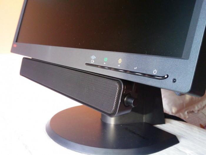 Lenovo ThinkVision Soundbar – 2×3 W megavýkonu!