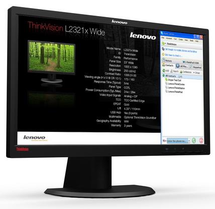 ThinkVision L2321x – dva obrazy v jednom rámu