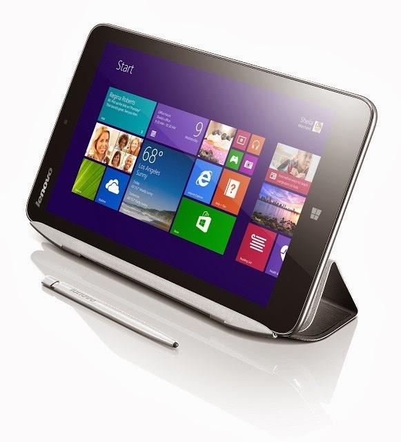 """IdeaTab Miix 2: 8"""" Windows tablet s dotykovým perom a krytom"""