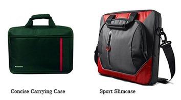 Dvě brašny Lenovo: Levná základní a tenká sportovní