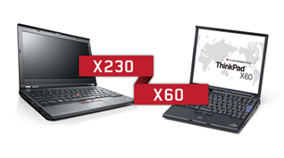 ThinkPad X60 vs. X230: Souboj titanů