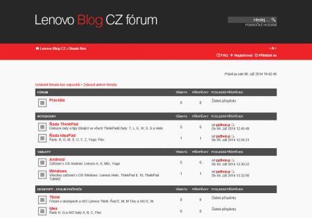 Lenovo Blog CZ fórum