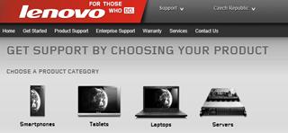 Nový vzhľad webu Lenovo Support