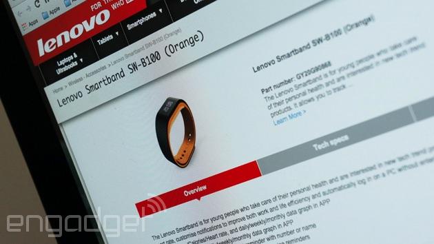 Lenovo představuje chytrý náramek SmartBand