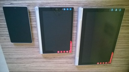 Nexus 7, Yoga Tablet 2 a Yoga Tablet 2 pro