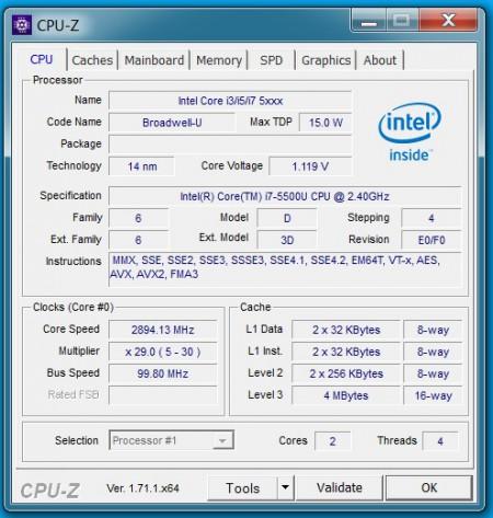 L450 CPU-Z