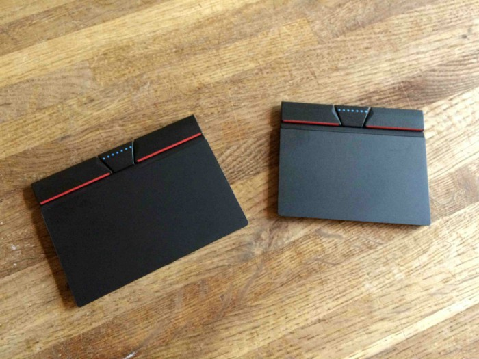 """3+2 clickpad pro 14""""/15"""" notebooky (vlevo) a 12"""" (vpravo)"""