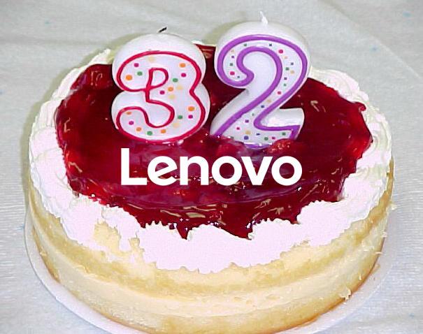 Lenovo slaví 32 let