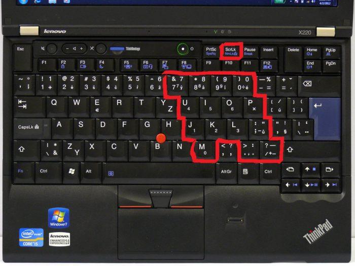 Přemapování klávesy NumLock na původní ThinkPad klávesnici