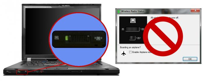 Jak se zbavit okna při vypnutí bezdrátových sítí přepínačem na ThinkPadu