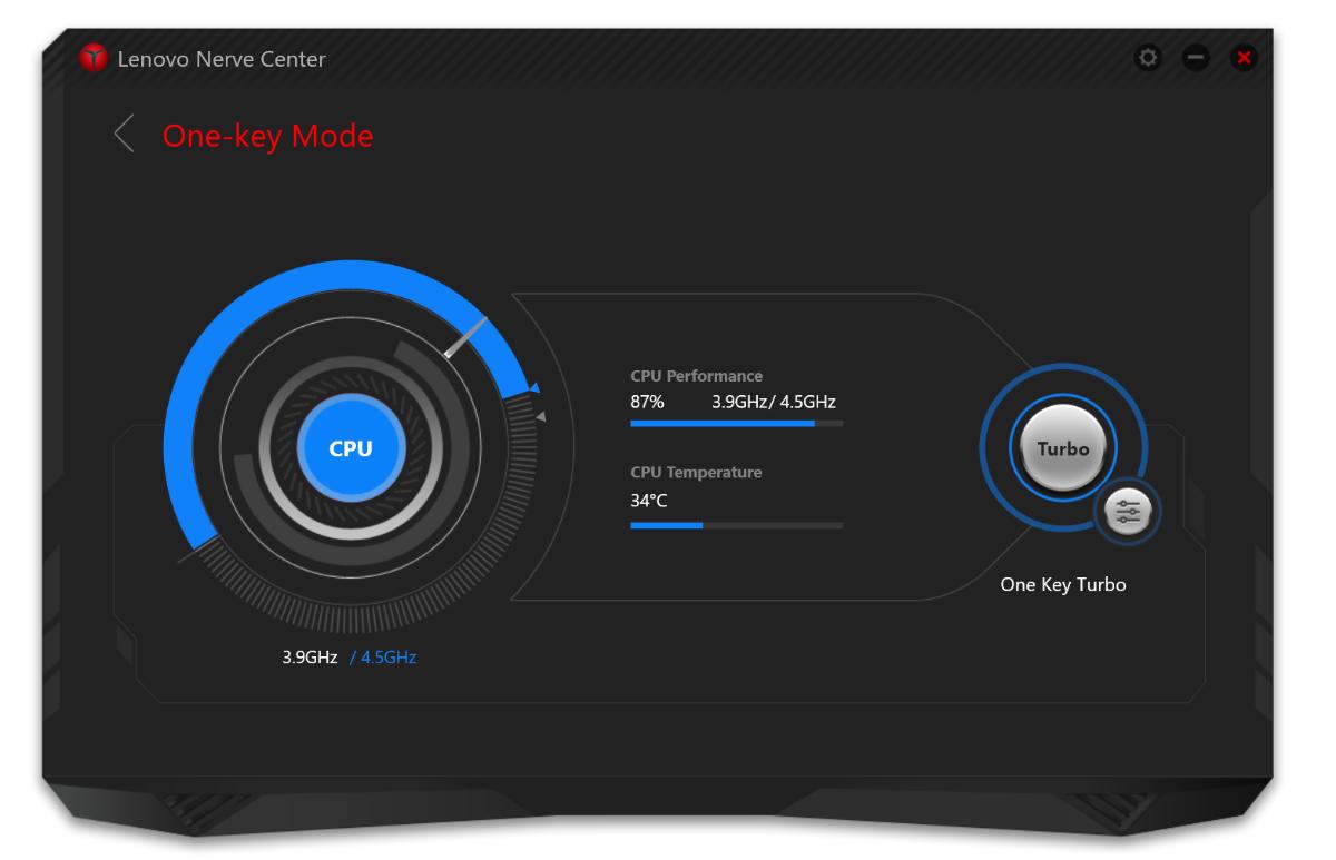 Lenovo Nerve Center nabízí jednak ryze herní vylepšení jako třeba přetaktování CPU a GPU a nastavení priority sítě, ale i ryze kosmetické záležitosti jako nastavení blikání barev LED