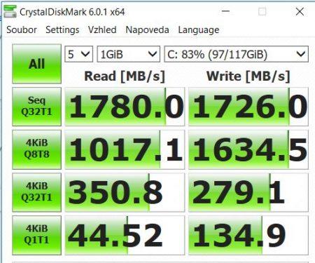 Test SSD disku Thinkpad T580