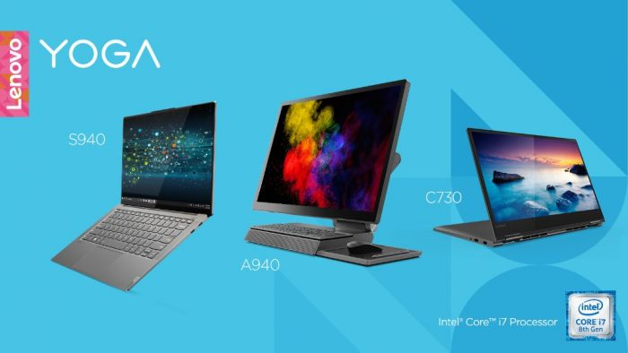 CES 2019: Chytré notebooky a all-in-one Lenovo Yoga S940, A940 a C730