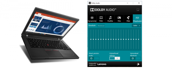 Návod: Jak vrátit do ThinkPadu s Windows 10 ovládací panel Dolby Audio