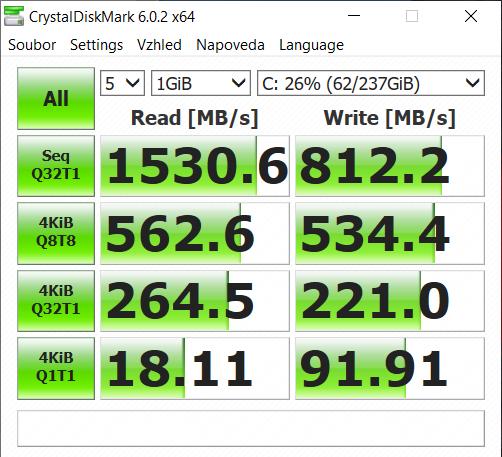 Rychlost SSD disku