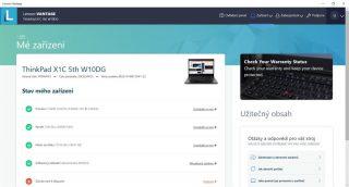 Aktuální verze Lenovo Vantage (zdroj: Windows Store)