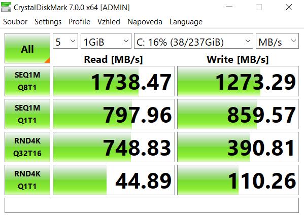 Rychlost SSD
