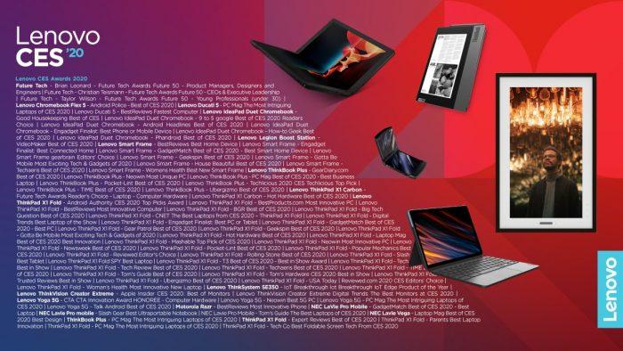Ocenční Lenovo na CES 2020