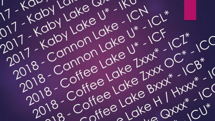 Značení procesorů Intel, AMD a Qualcomm v názvech produktů Lenovo