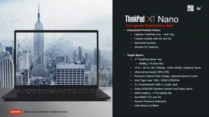 Tajemný ThinkPad X1 Nano: displej 16:10 a hmotnost pod jeden kilogram