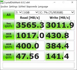 CrystalDiskMark test.