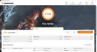 3DMark Fire Strike, Lenovo Yoga C940-14IIL.