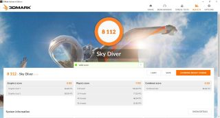 3DMark Sky Diver, Lenovo Yoga C940-14IIL.